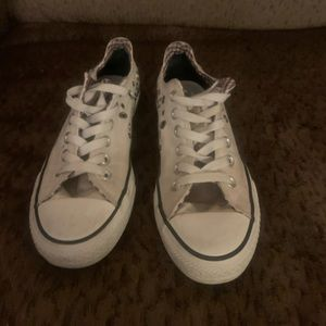 White Converse Chuck Taylor's  Low Top Sneaks